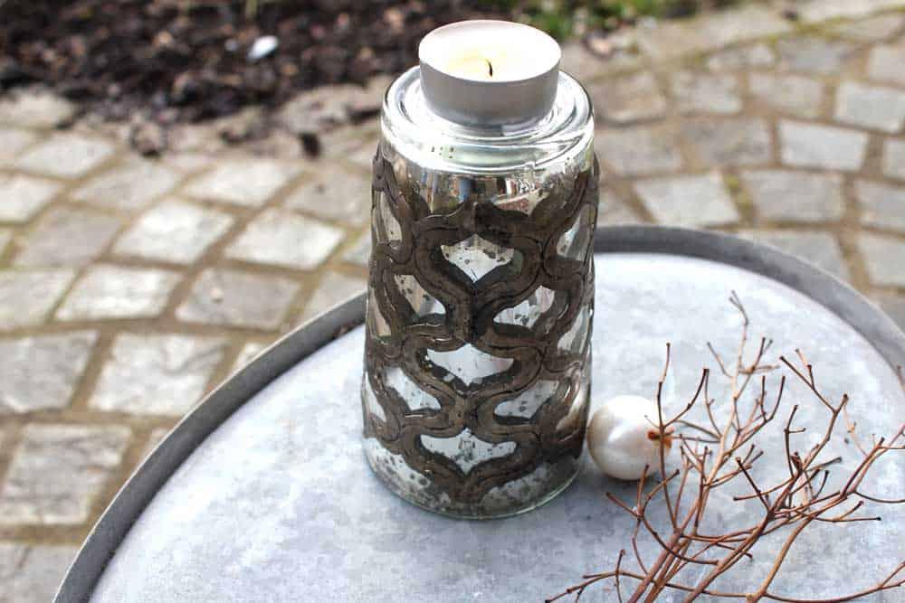 windlicht glas metall wohnzopf shabby chic deko onlineshop. Black Bedroom Furniture Sets. Home Design Ideas